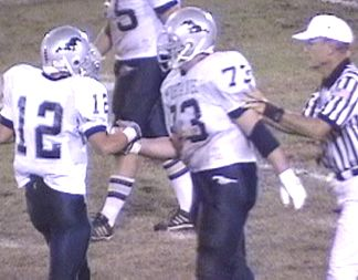 Patrick and Cody after Patrick gets the pass for the first down