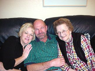 Eve and Pat with Mom