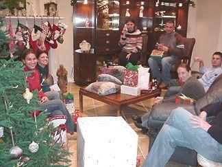 Christmas Eve - Gift Exchange: Nicole Natalie Joanie David Ellis Patrick and Kelly