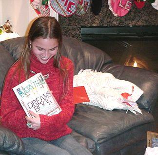 Nicole opening her Dream Book