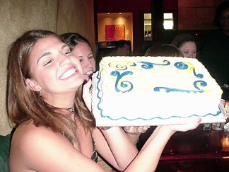 Natalie with B-day cake